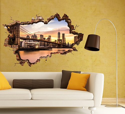 Brooklyn Bridge 3D Wall Sticker
