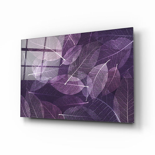 Purple Leaf UV Printed Glass Printing
