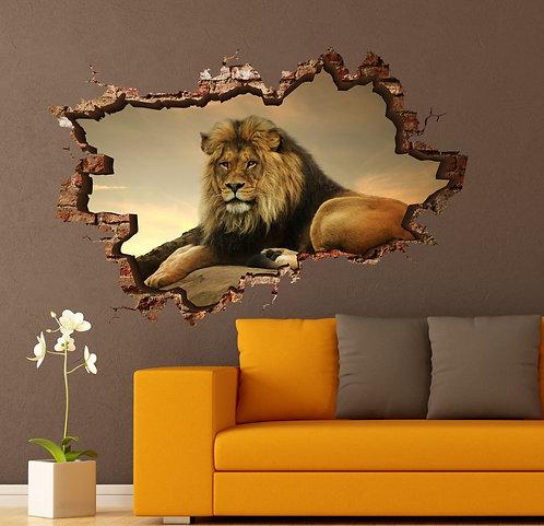 Lion 3D Wall Sticker
