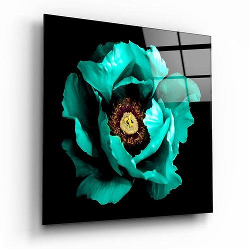 Floral Green UV Printed Glass Printing