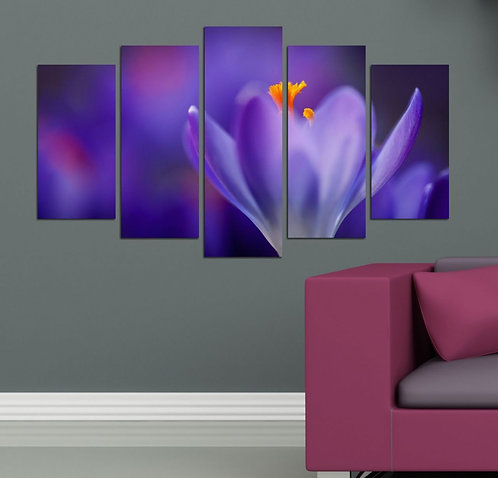 Flowers (4) 5 Pieces MDF Painting