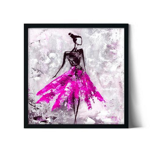 Pink Skirt Framed Painting