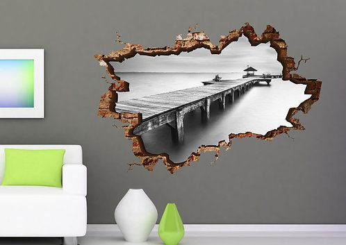 Black and White 3D Wall Sticker