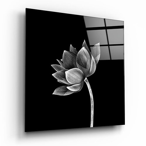 Floral UV Printed Glass Painting