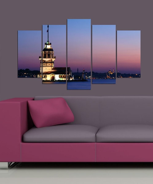 Maiden's Tower 5 Pieces MDF Painting