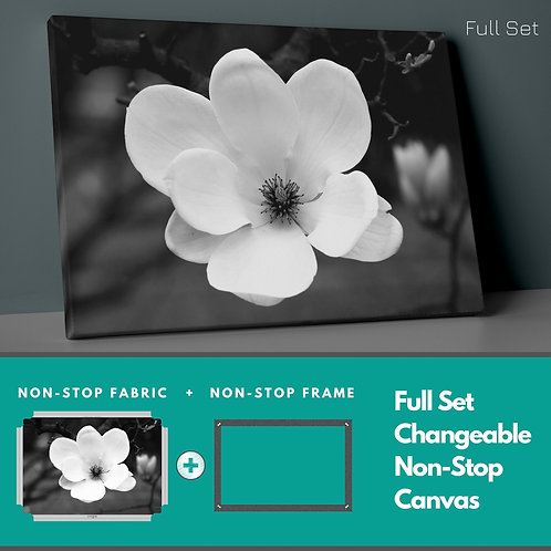 White Flower Non-Stop Canvas Printings