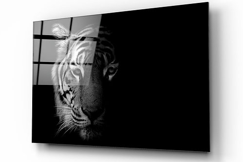 Tiger UV Printed Glass Painting