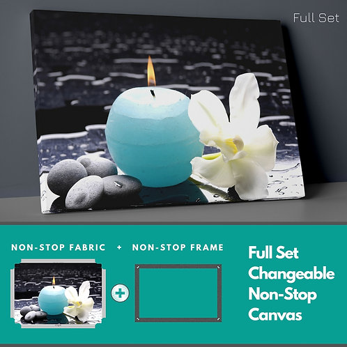 Candle And Flower Non-Stop Canvas Printings