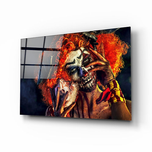 Woman UV Printed Glass Painting