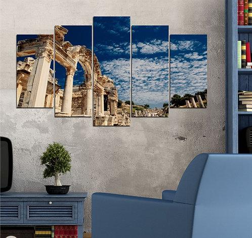 Ancient City of Ephesus 5 Pieces MDF Painting