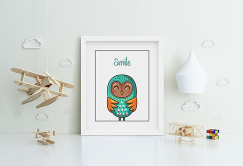 Owl-Smile Framed Printing