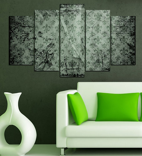 Greeny 5 Pieces MDF Painting