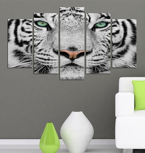 The White tiger 5 Pieces MDF Painting