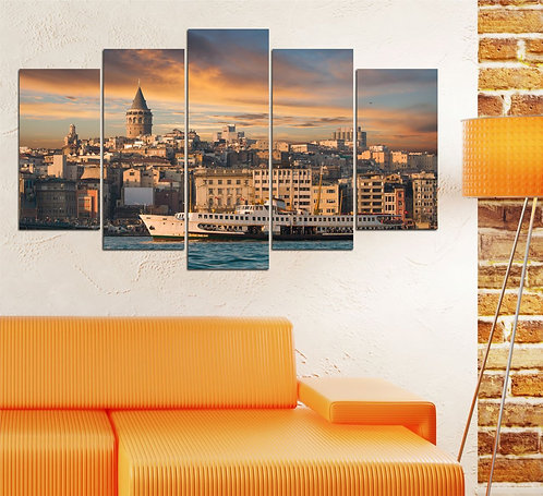 Galata tower 5 Pieces MDF Painting