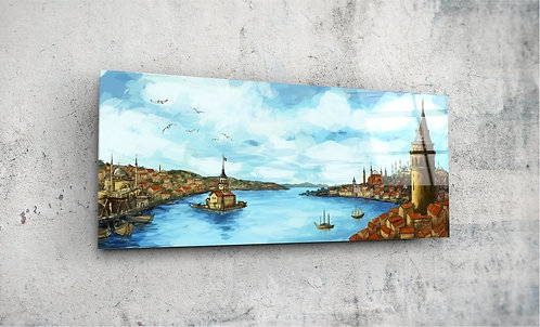 Old Istanbul  UV Glass Painting