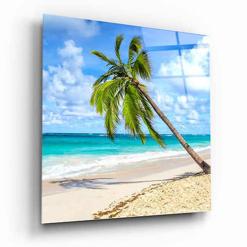 Palm Tree UV Printed Glass Painting