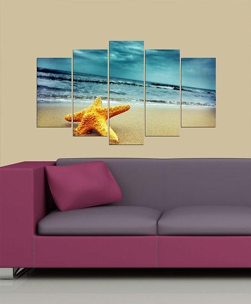 Starfish 5 Pieces MDF Painting