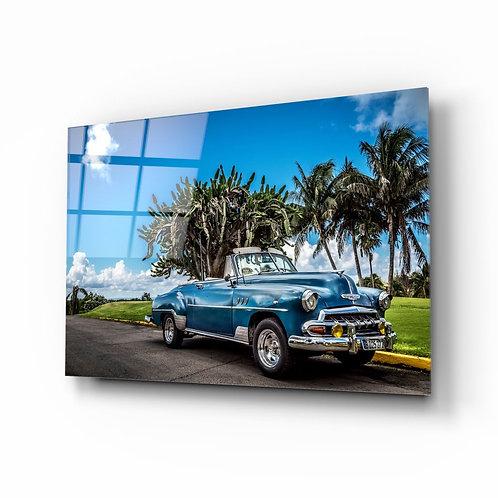 Classic Car UV Printed Glass Printing