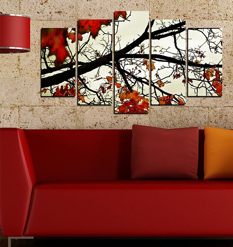 Tree branches 5 Pieces MDF Painting