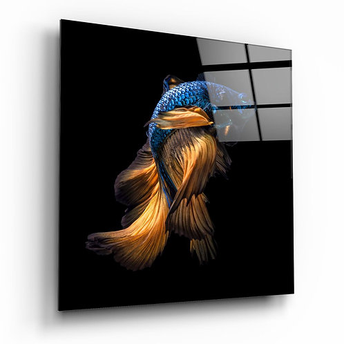 Betta Fish UV Printed Glass Painting