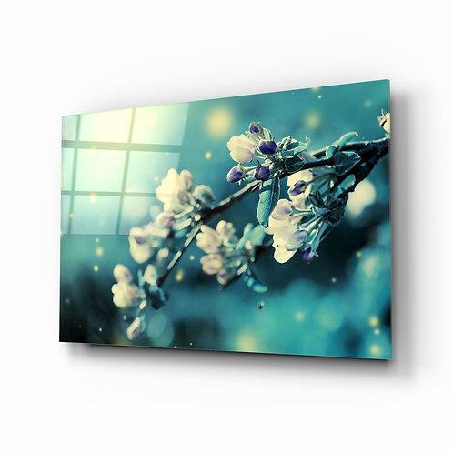 Flower UV Printed Glass Painting