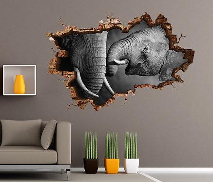 Elephant 3D Wall Sticker
