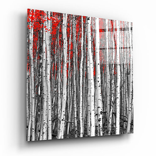 Red Forest UV Printed Glass Printing