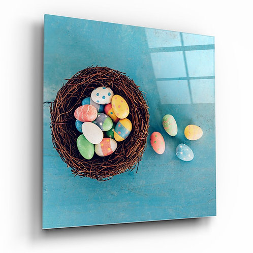Easter Eggs UV Printed Glass Printing