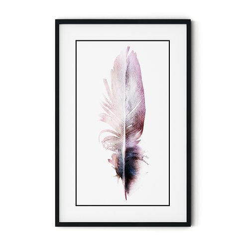 Feather Framed Wall Art