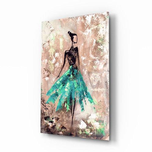Girl UV Printed Glass Painting