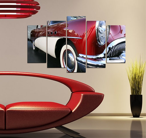 Classic car 5 Pieces MDF Painting