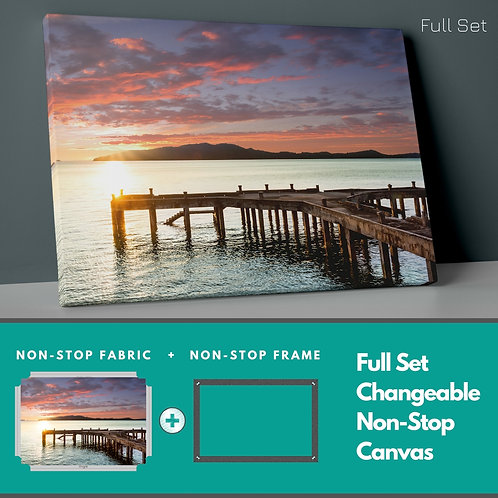 Pier And Sunset Non-Stop Canvas Printings