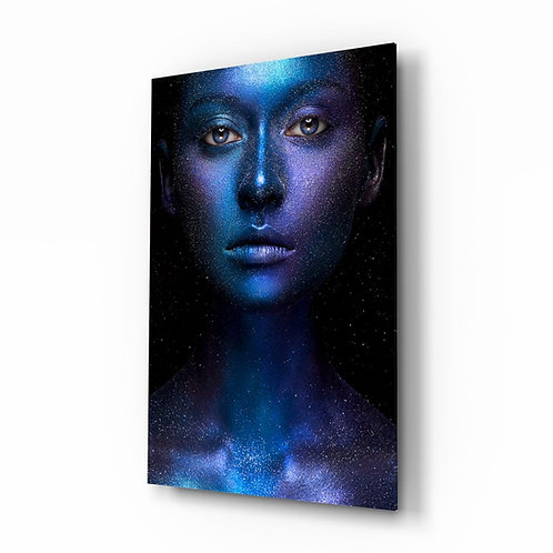 Woman Portrait UV Printed Glass Printing