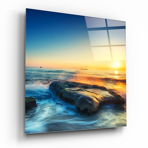 Sunset UV Printed Glass Painting