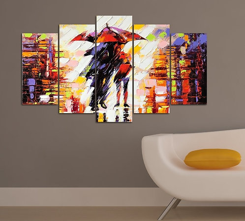 Abstract (23) 5 Pieces MDF Painting
