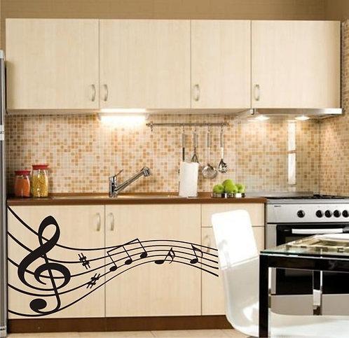 Sheet Music Kitchen  Wall Sticker