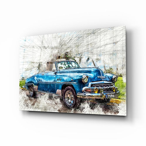Classic Chevrolet UV Printed Glass Printing