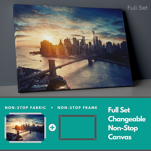 City And Sunset Non-Stop Canvas Printings