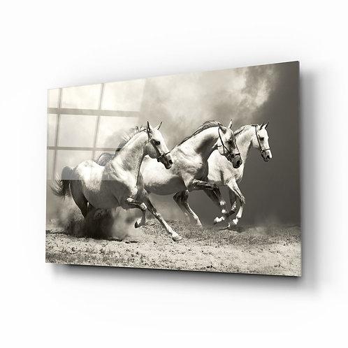 Running Horses UV Printed Glass Printing
