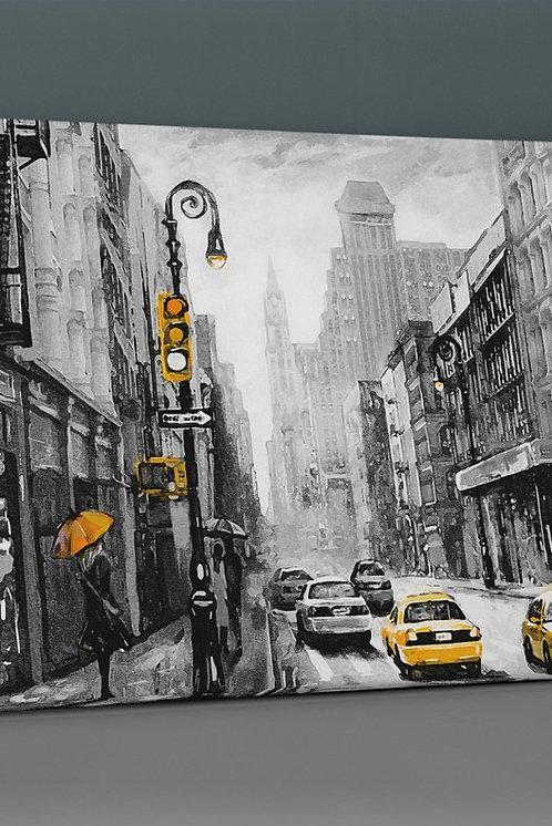 New York Rain Canvas Printings