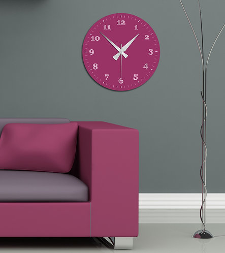 Judas-tree MDF Clock