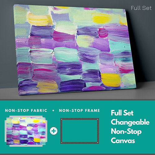 Watercolor Colors Non-Stop Canvas Printings