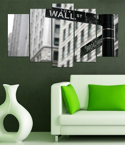 Wall ST. 5 Pieces MDF Painting