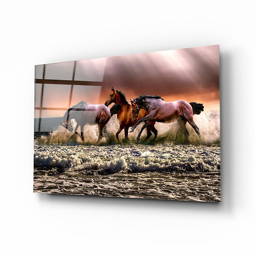 Horses UV Printed Glass Printing