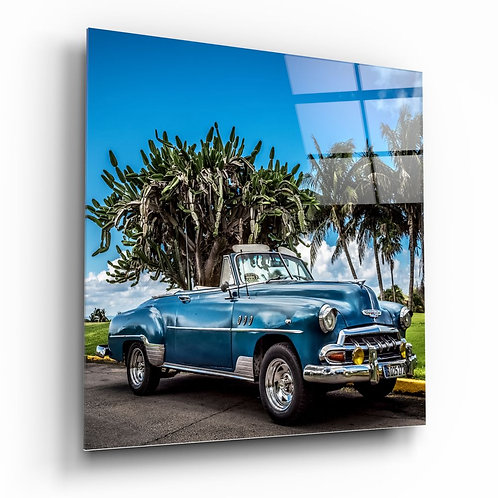Classic Car UV Printed Glass Printing