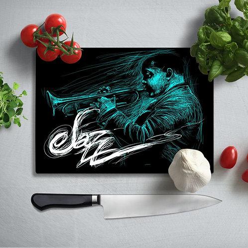 Jazz Uv Printed Glass Chopping Board 35x25 cm