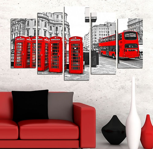 England 5 Pieces MDF Painting