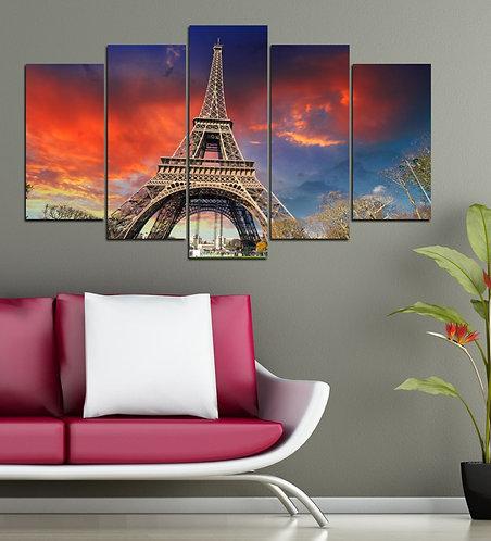 Eiffel (2) 5 Pieces MDF Painting