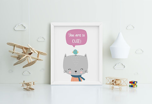 Cat-You are So Cute Framed Printing