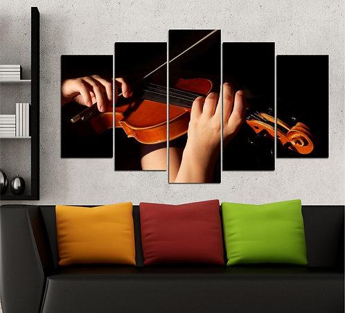 Violin 5 Pieces MDF Painting